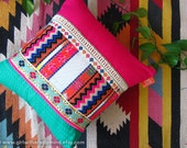 Throw Pillow - Mexican Zigzag Geometric Layered Cushion Cover