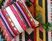 Colorful Chevron Zigzag Geometric Mexican Cushion Cover