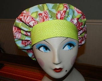 Tumble Roses  Banded Bouffant Surgical Cap
