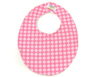 Pink Tile Boutique Bib - New Baby Gift, Personalized Baby Gift, New Baby Girl
