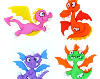 Dragon Buttons 4 pc