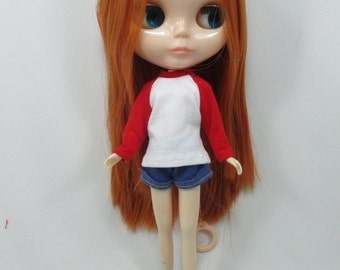 Handmade outfit for Blythe doll long sleeve Sweater Tee shirt SD-5