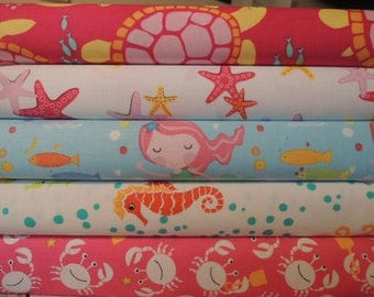 Mermaid Rag Quilt Kit, Easy to Make, Personalized, Bin A