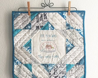 One Kind Word Mini Quilt Hand Quilted - FREE SHIPPING