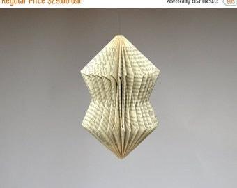 Christmas SALE Crystal: Hanging Ornament - folded Book Art
