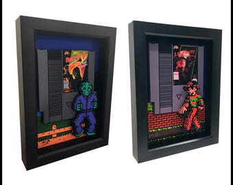 Friday the 13th Jason Voorhees and Freddy Krueger A Nightmare on Elm Street Video Game Nintendo Game Nes 3D Art Freddy Glove Jason Mask