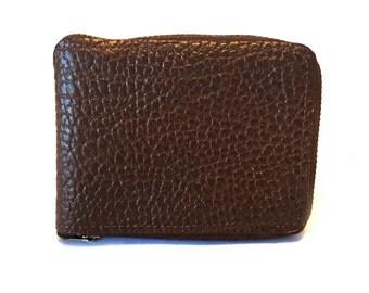 1950's Brown Leather Zip Wallet