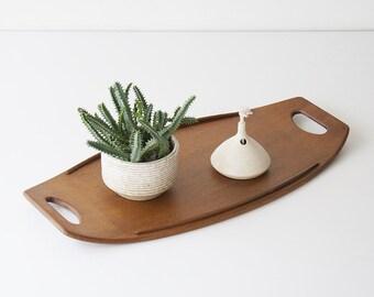 Vintage Danish Modern Dansk Teak Surfboard Tray