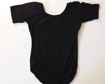 Body suit, Black leotard, vtg black leotard, vintage leotard, vtg bodysuit, nylon leotard
