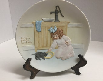 Vintage Bessie Pease Gutmann Collector Plate 1985 Once Upon a Childhood The Foster Mother