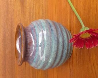 """Pottery Bouquet Vase 5"""" in Opal Glaze Hertz Pottery"""