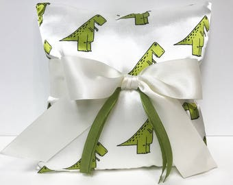 Dinosaur ring bearer pillow, ring pillow, dino pillow, dino ring bearer pillow, Dinosaur wedding, Trex Wedding, Wedding Pillow