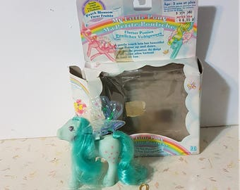 Vintage Flutter Pony Peach Blossom With Wings Intact and Box!
