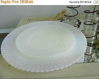 Antique Opaque Milkglass Plates Milk Glass Plate