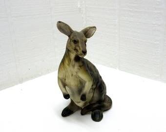 KANGAROO FIGURINE By UCTCI Japan Ceramic Kangaroo Statue Japan Ceramic Kangaroo Ceramic Kangaroo Made In Japan Vintage Kangaroo