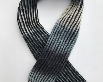 HERITAGE: HAYES Hand Knit One Of A Kind Merino Wool Scarf