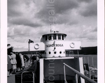 Vintage Photo, Ticonderoga Ferry, Black & White Photo, Old Photo, Vacation Photo, Found Photo, Snapshot, Vernacular Photo