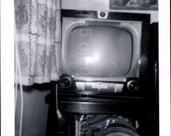 Vintage Photo, 1950's Television Set , Black & White Photo, Old Photo, Found Photo, Snapshot, Classic Photo, Vernacular Photo