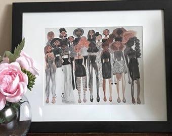 Formation- Black Girl Magic art, fashion illustration, illustration, fashion wall art by LeMahogany Art