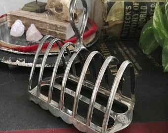 Antique Silver Plate Toast Rack from The Clydesdale Hotel