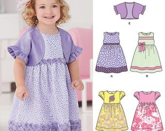New Look 0954 same as 6254 Dress Bolero Out of Print size 1/2 - 4