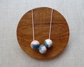 Small Gold Dot Marble Ball Necklace