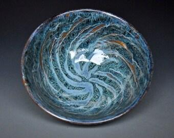 25% Off Seconds Blue Bowl Pottery Ceramic Salad Handmade Pottery A