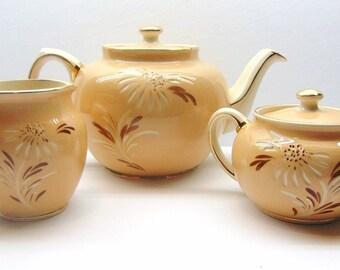 Vintage Sadler Teapot with Cream and Sugar Set