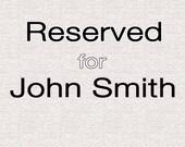 Reserved for John Smith