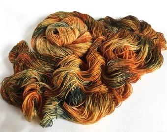 Sea Spiral Sock Yarn. Charred Toffee