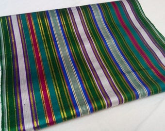 Uzbek traditional handwoven silk fabric Bekhasam. F035