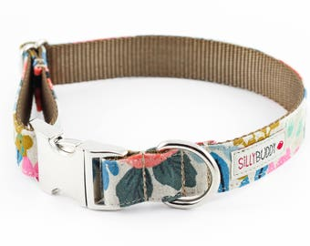 Les Fleurs Rosa Natural Dog Collar - Rifle Paper Co.