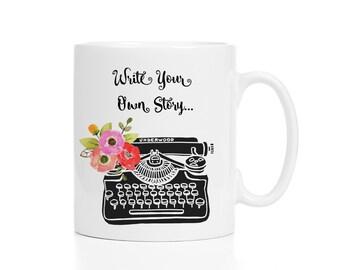 Write Your Own Story Typewriter Coffee Mug 11 oz