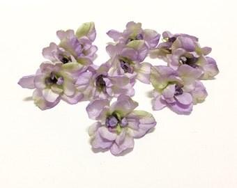 LAST One - LAVENDER GREEN Delphinium Blossoms - Artificial Flowers, Silk Flowers, Wedding, Hair Accessories, Millinery, Flower Crown, Hat