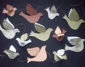 Paper Birds--Garland of Paper Birds