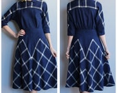 25% off SALE // 1940s Dress // Doris Dodson Plaid Dress // vintage 40s dress