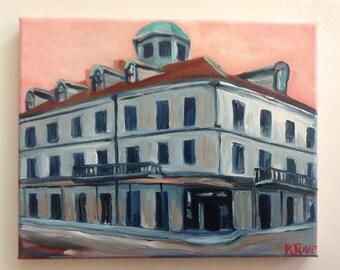 Napoleon House New Orleans | print of oil 8 x 10 Louisiana Artist Kristi Jones | Impressionist painting | French Quarter | New Orleans art