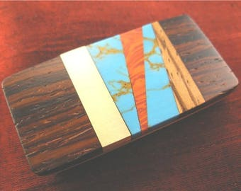 Group Gift for Men - Abstract Money Clip - Dad Gift, Boyfriend Gift for Him - Jammer Jewelry MC365