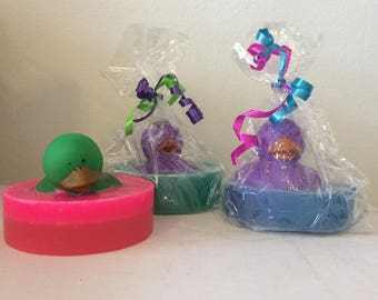 Natural Soap, Solid Color Rubber Duck, Your Choice of Pink Grapefruit, Lavender, or Lime 4.5 oz. by Green Bubble Gorgeous on etsy
