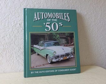 Automobiles of the 50s, Hardcover Book, like new. Color illustrations of the fabulous cars of the 50s.