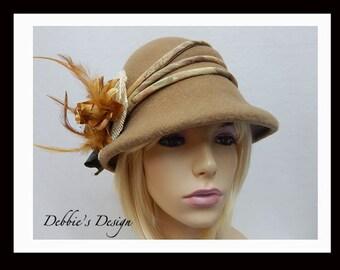 Women's Handmade Cloche Hat-514, Women's Cloche Hat, Women's Hats, Women's handmade cloche hat, Downton Abbey