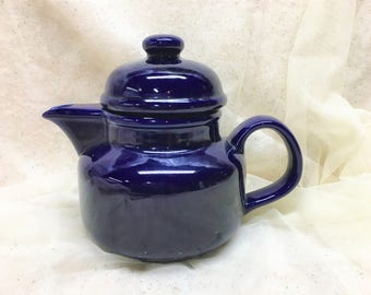 Cobalt Blue Vintage Teapot Europa Himark Japan Ceramic Pottery Retro