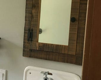 Recessed Barn Wood Medicine Cabinet Rustic Reclaimed Medicine Cabinet With  Mirror Made From 1892 Barn Wood