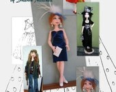 Cloth Doll Pattern Krista -  by SFM Cloth dolls With Attitude