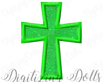 Cross Applique 8  Machine Embroidery Design Digital File 2x2 3x3 4x4 5x7 Church Easter INSTANT DOWNLOAD