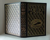 Vintage Book 1977 MOBY DICK Herman Melville The Whale Genuine Leather Bound Easton Press AEG Illustrated Boardman Robinson Decorative Gilt