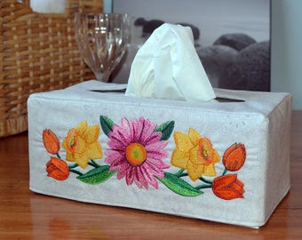 Spring Flower Spray Large Tissue Box Cover