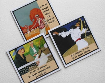 Funny  Sassy Magnets for the Woman Tennis Player