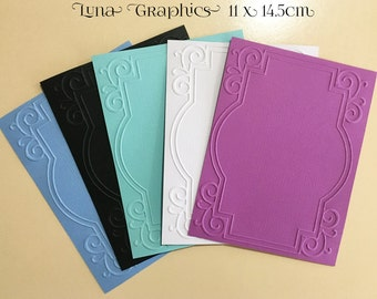 EMBOSSED CARDSTOCK 41/4 x 51/2 inches 5 pack Frames