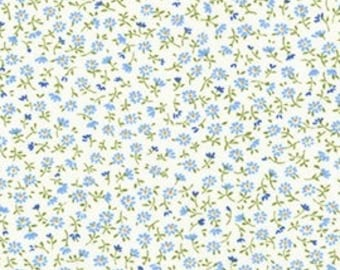Robert Kaufman - Sevenberry Petite Garden Blue ditsy floral tiny calico Florals blue daisy SB-6112D4-3  Japanese Cotton - choose your cut